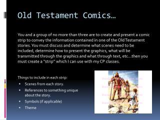 Old Testament Comics…
