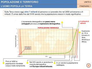 POPOLAZIONE E TERRITORIO