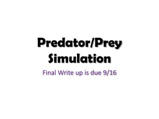 Predator/Prey Simulation
