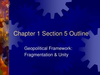 Chapter 1 Section 5 Outline