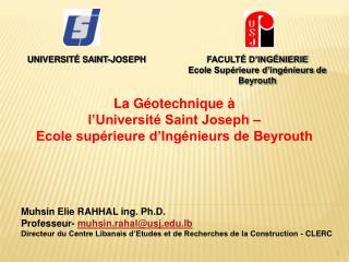 UNIVERSITÉ SAINT-JOSEPH