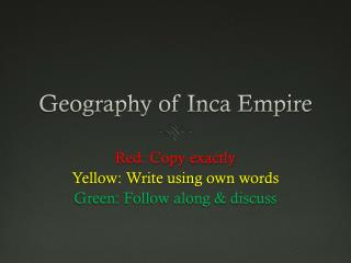 Geography of Inca Empire