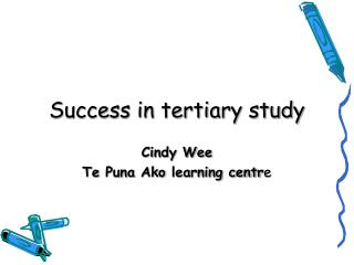 Success in tertiary study