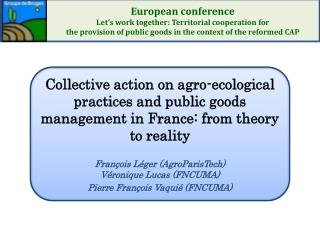 Greening  the CAP,  Double efficient  agriculture (French  Loi d'Avenir )