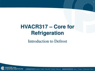 HVACR317 � Core for Refrigeration