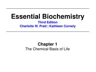 Chapter 1 The Chemical Basis of Life