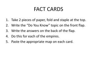 FACT CARDS