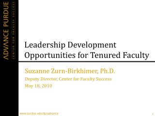 Leadership Development Opportunities for Tenured Faculty