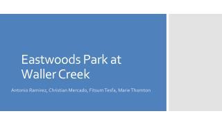 Eastwoods  Park at Waller Creek