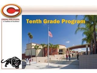 Tenth Grade Program