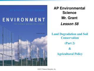 AP Environmental Science Mr. Grant Lesson  58