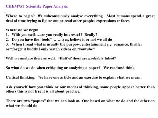 CHEM751  Scientific Paper  Analysis