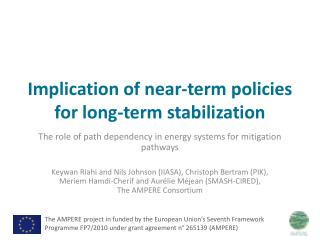 Implication of near-term policies for long-term stabilization