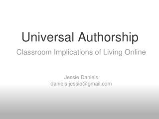 Universal Authorship