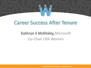 Career Success After Tenure