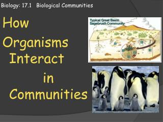 Biology: 17.1   Biological Communities