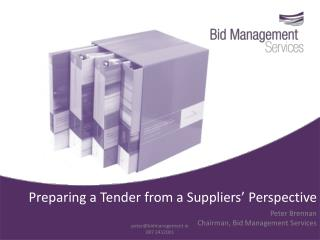 Preparing a Tender from a Suppliers' Perspective