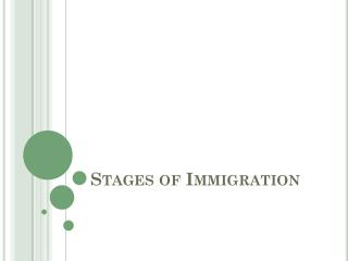 Stages of Immigration