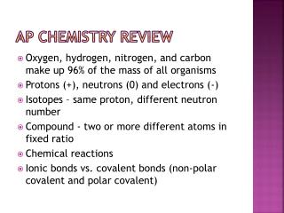 AP Chemistry  review