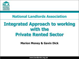 Integrated Approach to working with the Private Rented Sector