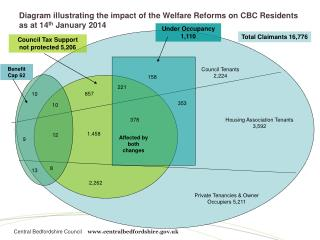 Diagram illustrating the impact of the Welfare Reforms on CBC Residents as at 14 th  January 2014