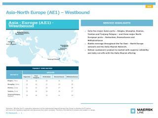 Asia-North Europe (AE1) � Westbound