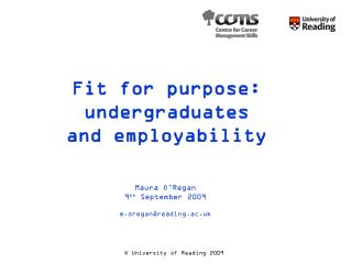 Fit for purpose: undergraduates and employability