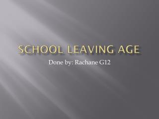 School Leaving Age