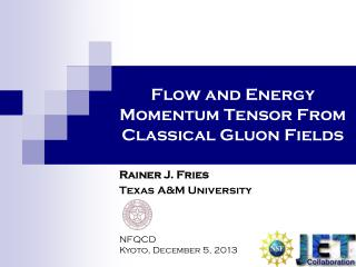 Flow and Energy Momentum Tensor From  Classical Gluon Fields