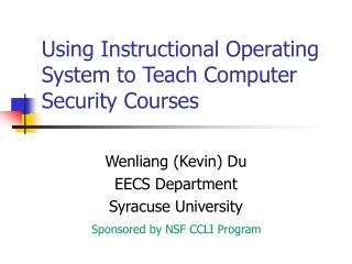 Using Instructional Operating System to Teach Computer ...