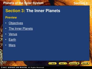Section 3: The Inner Planets