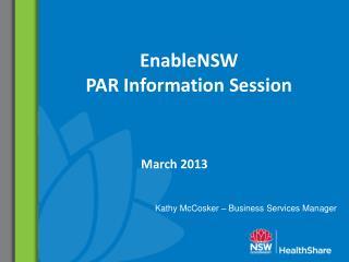 EnableNSW PAR Information Session