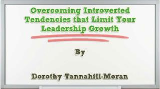 ppt 40143 Overcoming Introverted Tendencies that Limit Your Leadership Growth