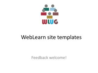 WebLearn  site templates