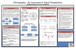 Ethnography – An Instrument to Teach  Perspectives By Manoj Prasad, Dr. Tracy A.  Hammond