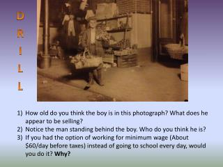 How old do you think the boy is in this photograph? What does he appear to be selling?