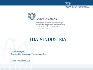 HTA e INDUSTRIA Davide Perego Responsabile  Regulatory  &  Technology Affairs