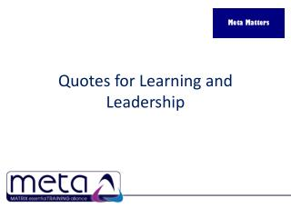 Quotes for Learning and Leadership