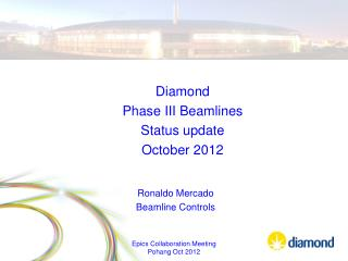 Diamond  Phase III  Beamlines Status update October 2012
