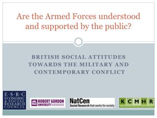 Are the  Armed  F orces  understood and supported by the public?