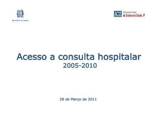 Acesso a consulta hospitalar  2005-2010