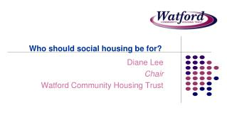 Who should social housing be for?
