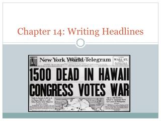 Chapter 14: Writing Headlines