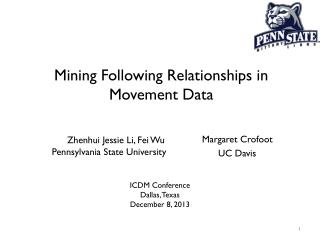Mining Following Relationships in Movement  Data