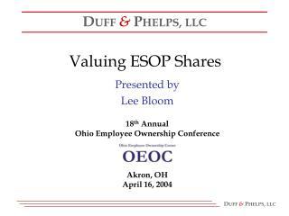Valuing ESOP Shares