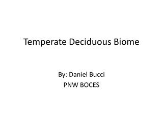 Temperate Deciduous Biome