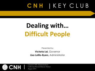 Dealing with… Difficult People