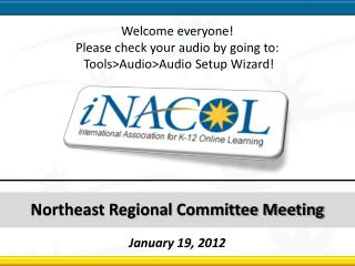 Northeast Regional Committee Meeting