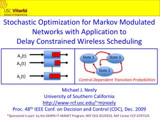 Stochastic Optimization for Markov Modulated Networks with Application to