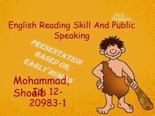 English Reading Skill And Public Speaking